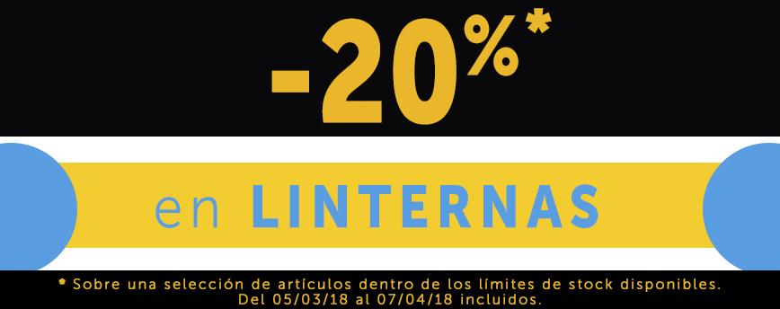 -20% en linternas
