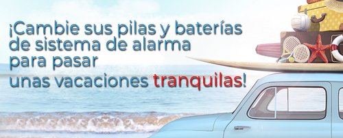 PILAS Y BATERIAS DE SISTEMA DE ALARMA
